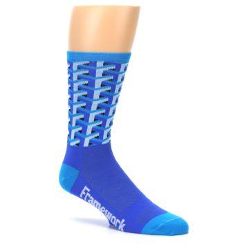 Image of Blue Framework Optical Men's Crew Athletic Socks (side-1-26)