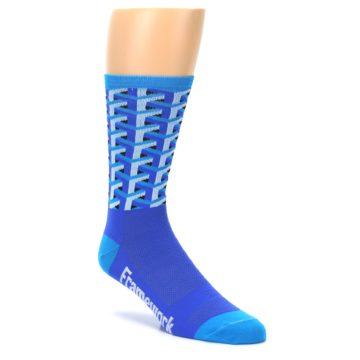 Image of Blue Framework Optical Men's Crew Athletic Socks (side-1-27)