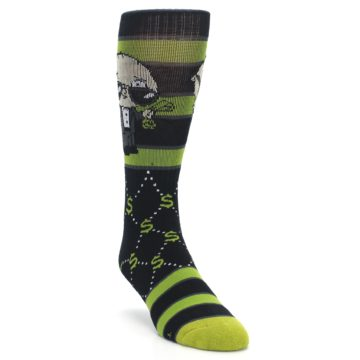 Image of Green Family Guy Stewie Rich Men's Casual Socks (side-1-front-02)