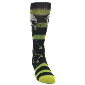 Image of Green Family Guy Stewie Rich Men's Casual Socks (side-1-front-03)