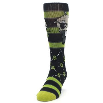 Image of Green Family Guy Stewie Rich Men's Casual Socks (side-2-front-06)