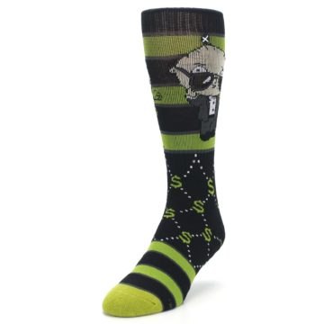 Image of Green Family Guy Stewie Rich Men's Casual Socks (side-2-front-07)