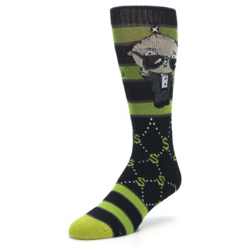 Image of Green Family Guy Stewie Rich Men's Casual Socks (side-2-front-08)