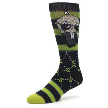 Image of Green Family Guy Stewie Rich Men's Casual Socks (side-2-09)