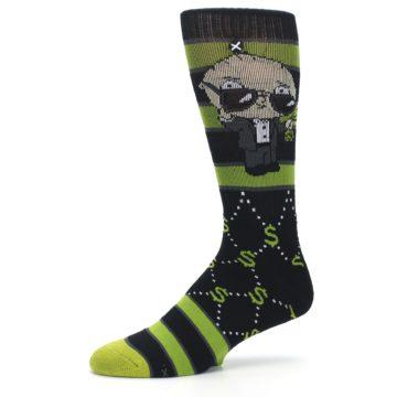 Image of Green Family Guy Stewie Rich Men's Casual Socks (side-2-10)
