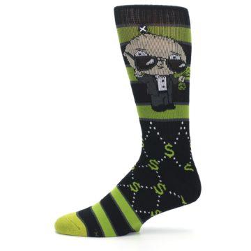 Image of Green Family Guy Stewie Rich Men's Casual Socks (side-2-11)
