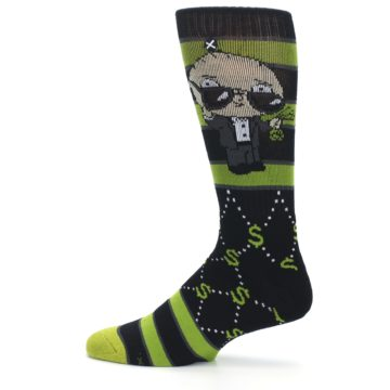 Image of Green Family Guy Stewie Rich Men's Casual Socks (side-2-12)