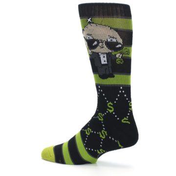 Image of Green Family Guy Stewie Rich Men's Casual Socks (side-2-13)