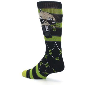 Image of Green Family Guy Stewie Rich Men's Casual Socks (side-2-back-14)