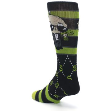 Image of Green Family Guy Stewie Rich Men's Casual Socks (side-2-back-15)