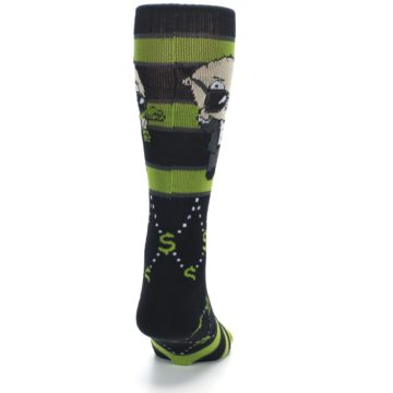 Image of Green Family Guy Stewie Rich Men's Casual Socks (back-19)