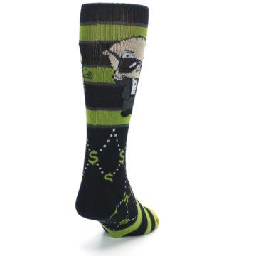 Image of Green Family Guy Stewie Rich Men's Casual Socks (side-1-back-20)