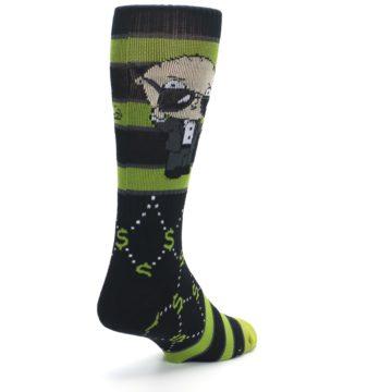 Image of Green Family Guy Stewie Rich Men's Casual Socks (side-1-back-21)