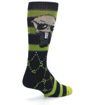Image of Green Family Guy Stewie Rich Men's Casual Socks (side-1-back-22)