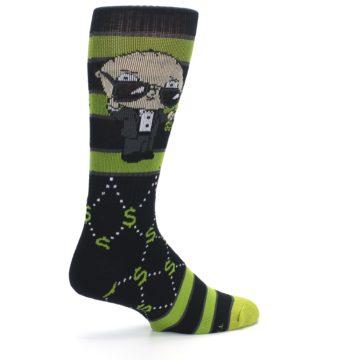 Image of Green Family Guy Stewie Rich Men's Casual Socks (side-1-23)