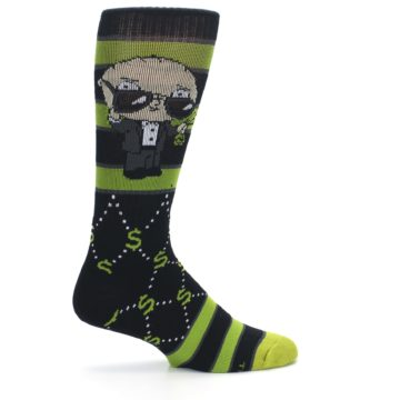 Image of Green Family Guy Stewie Rich Men's Casual Socks (side-1-24)