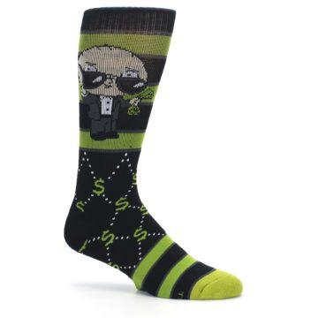 Image of Green Family Guy Stewie Rich Men's Casual Socks (side-1-25)
