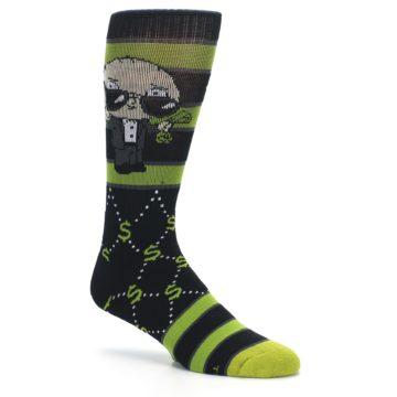 Image of Green Family Guy Stewie Rich Men's Casual Socks (side-1-26)
