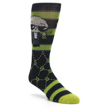 Image of Green Family Guy Stewie Rich Men's Casual Socks (side-1-27)