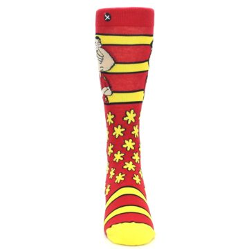 Image of Red Yellow Family Guy Quagmire Men's Casual Socks (front-04)