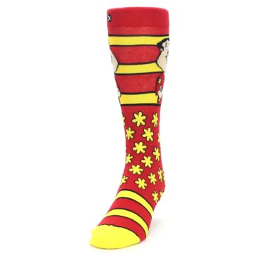 Image of Red Yellow Family Guy Quagmire Men's Casual Socks (side-2-front-06)