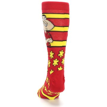 Image of Red Yellow Family Guy Quagmire Men's Casual Socks (back-17)