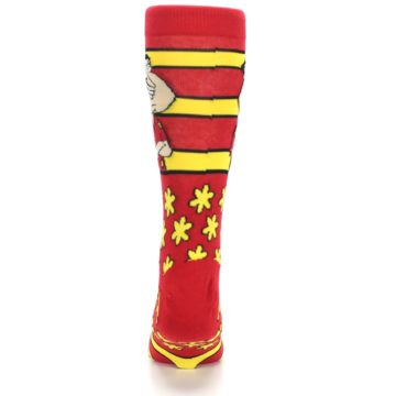 Image of Red Yellow Family Guy Quagmire Men's Casual Socks (back-18)
