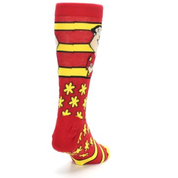 Image of Red Yellow Family Guy Quagmire Men's Casual Socks (side-1-back-20)
