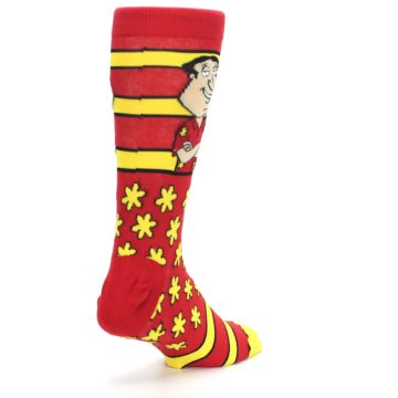 Image of Red Yellow Family Guy Quagmire Men's Casual Socks (side-1-back-21)