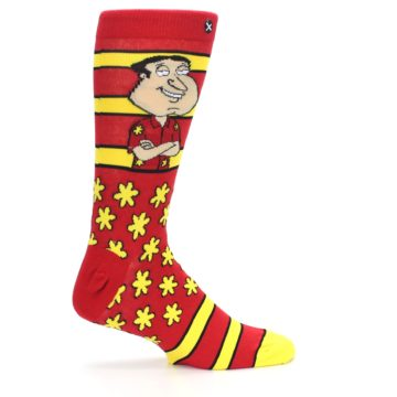 Image of Red Yellow Family Guy Quagmire Men's Casual Socks (side-1-24)