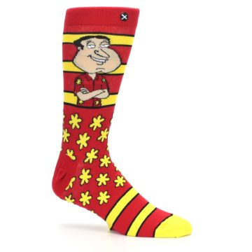 Image of Red Yellow Family Guy Quagmire Men's Casual Socks (side-1-25)