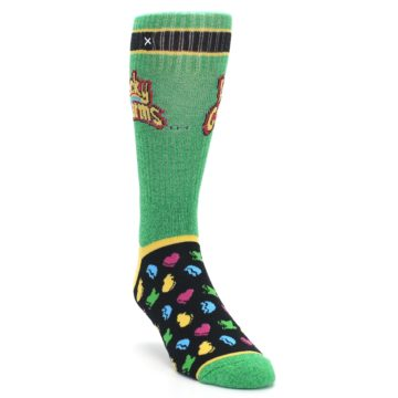 Image of Green Multi Lucky Charms Men's Casual Socks (side-1-front-02)