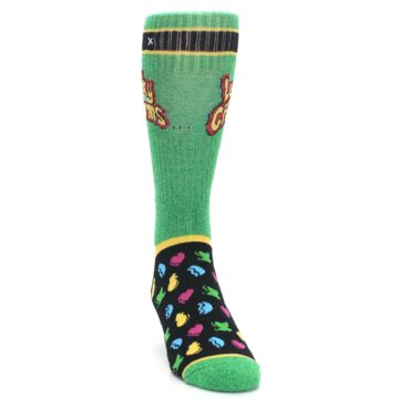 Image of Green Multi Lucky Charms Men's Casual Socks (side-1-front-03)