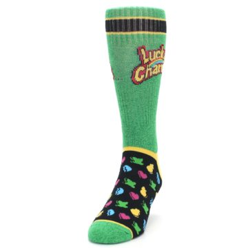 Image of Green Multi Lucky Charms Men's Casual Socks (side-2-front-06)