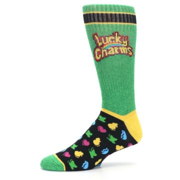 Image of Green Multi Lucky Charms Men's Casual Socks (side-2-10)