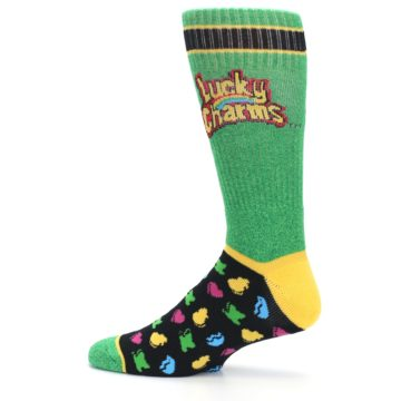 Image of Green Multi Lucky Charms Men's Casual Socks (side-2-12)