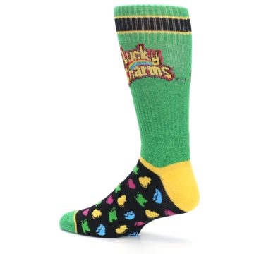 Image of Green Multi Lucky Charms Men's Casual Socks (side-2-13)