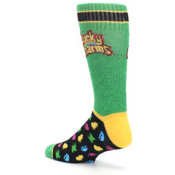 Image of Green Multi Lucky Charms Men's Casual Socks (side-2-back-14)