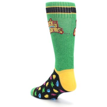 Image of Green Multi Lucky Charms Men's Casual Socks (side-2-back-15)