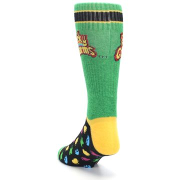 Image of Green Multi Lucky Charms Men's Casual Socks (side-2-back-16)