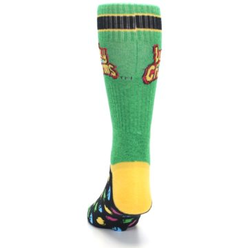 Image of Green Multi Lucky Charms Men's Casual Socks (back-17)