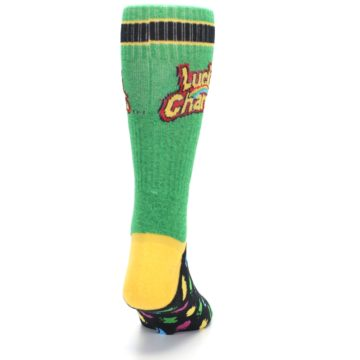 Image of Green Multi Lucky Charms Men's Casual Socks (back-19)