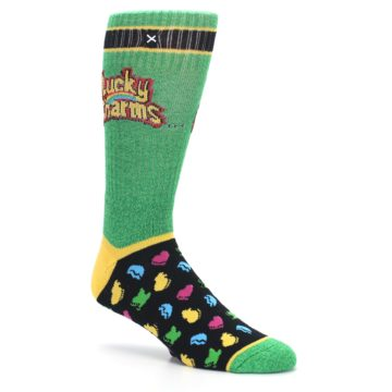 Image of Green Multi Lucky Charms Men's Casual Socks (side-1-26)