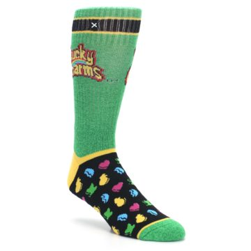 Image of Green Multi Lucky Charms Men's Casual Socks (side-1-27)