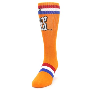 Image of Orange Wheaties Cereal Men's Casual Socks (side-2-front-06)