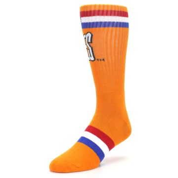 Image of Orange Wheaties Cereal Men's Casual Socks (side-2-front-08)