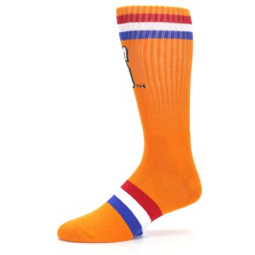 Image of Orange Wheaties Cereal Men's Casual Socks (side-2-10)