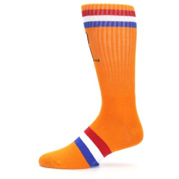 Image of Orange Wheaties Cereal Men's Casual Socks (side-2-11)