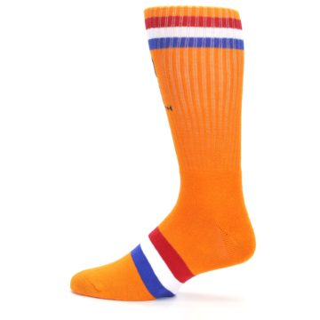 Image of Orange Wheaties Cereal Men's Casual Socks (side-2-12)