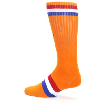Image of Orange Wheaties Cereal Men's Casual Socks (side-2-13)